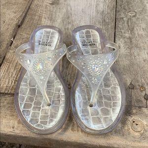 Stuart Weitzman crystal jelly sandals size 8.